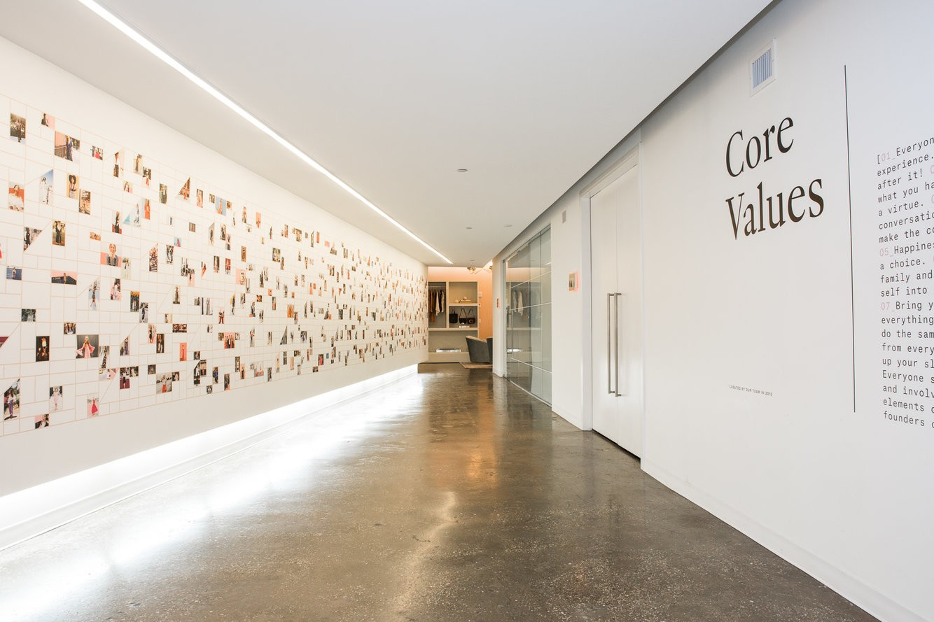 core values on the wall